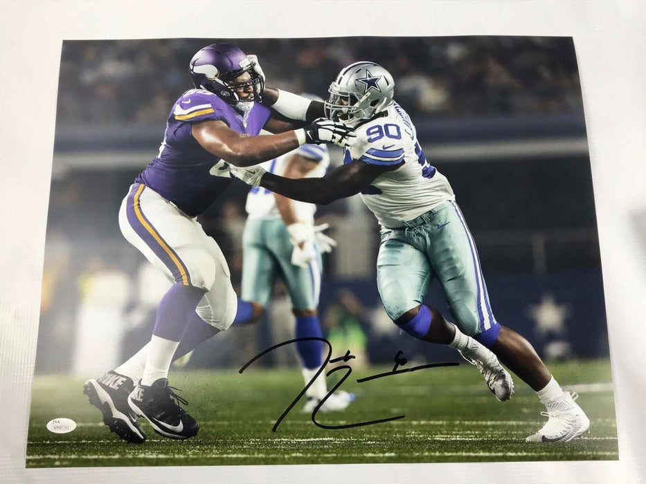 Demarcus Lawrence Signed 16x20  Picture Autograph Dallas Cowboys Photo JSA COA 5