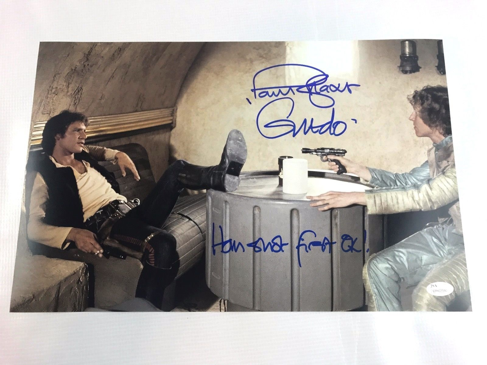 Paul Blake Authentic Autograph 11x17 Photo Greedo Signed JSA Star Wars Han Solo