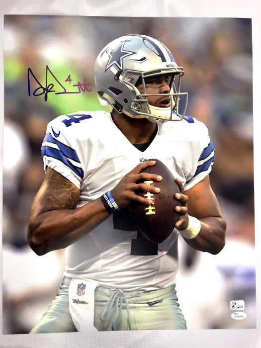 DAK PRESCOTT SIGNED 16X20 Photo Autograph Dallas COWBOYS JSA COA NFL