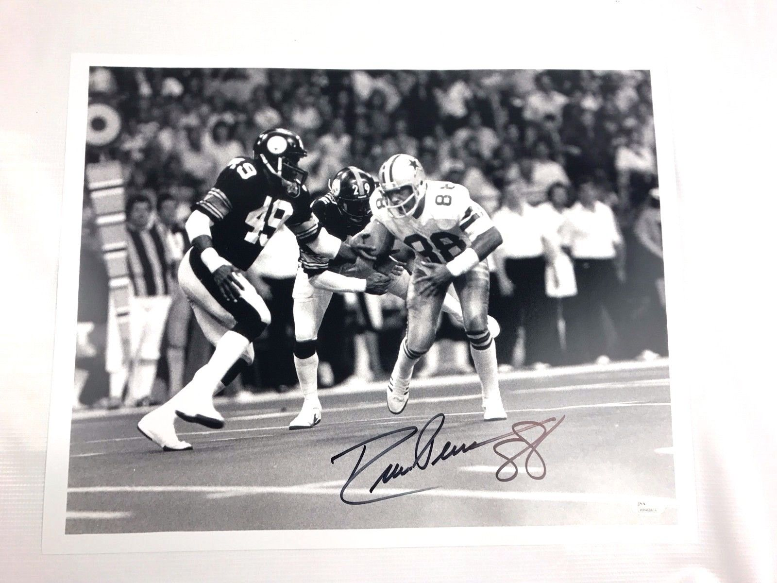 Drew Pearson Authentic Autograph 16x20 Photo Dallas Cowboys JSA COA Tulsa