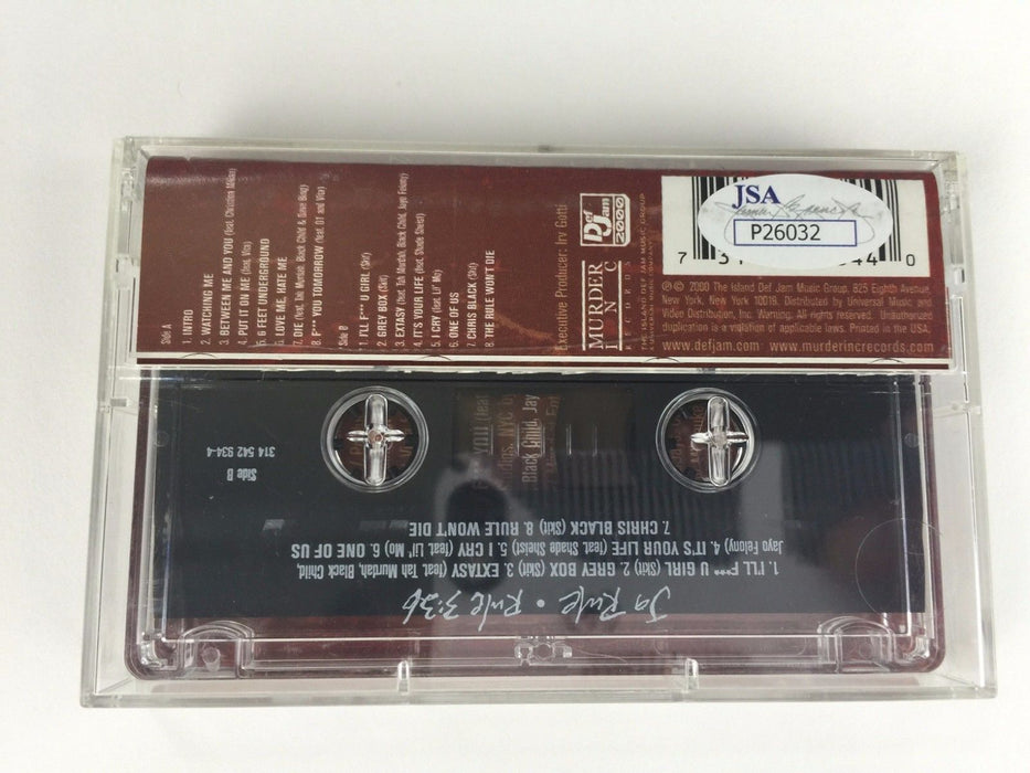Ja Rule Autograph Rule 3:36 Cassette Tape Signed Rap Put It on Me JSA COA