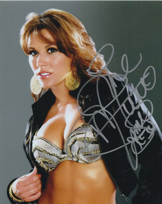 Mickie James Autograph Photo WWE 8X10 Picture Signed COA Z6
