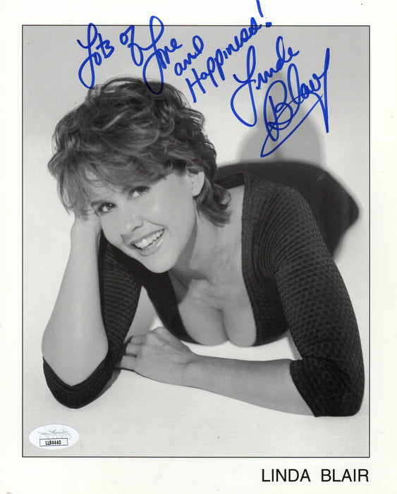 Linda Blair Signed 8x10 Photo The Exorcist Regan Autograph JSA COA 6