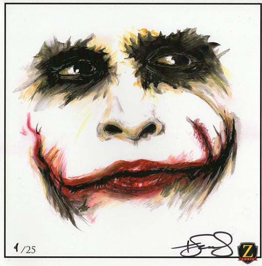 Zobie JOKER Exclusive 10x10 Art Print - Heath Ledger
