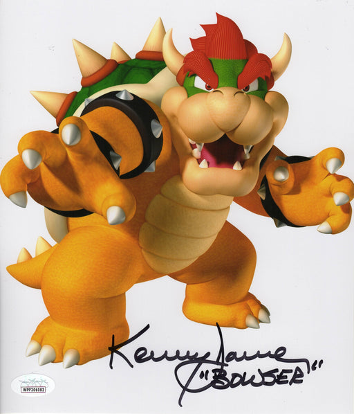 Kenny James Autograph 8x10 Mario Kart Photo Voice of Bowser Signed JSA COA 9