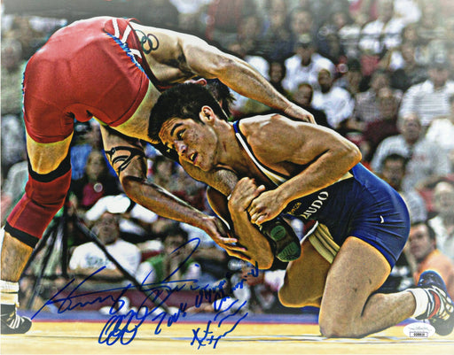 Henry Cejudo Autograph 11x14 Photo UFC US Mens Wrestling Olympic Team JSA COA