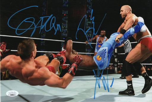 Cesaro Big E and Xavier Woods Autograph 8x12 Photo WWE Signed JSA COA