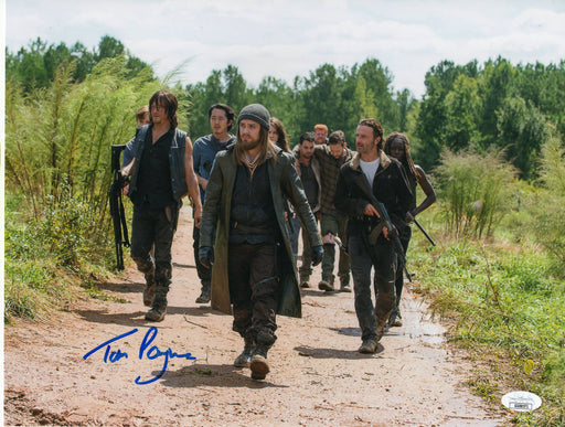 Tom Payne Autograph 11x14 Photo The Walking Dead Jesus Signed JSA COA