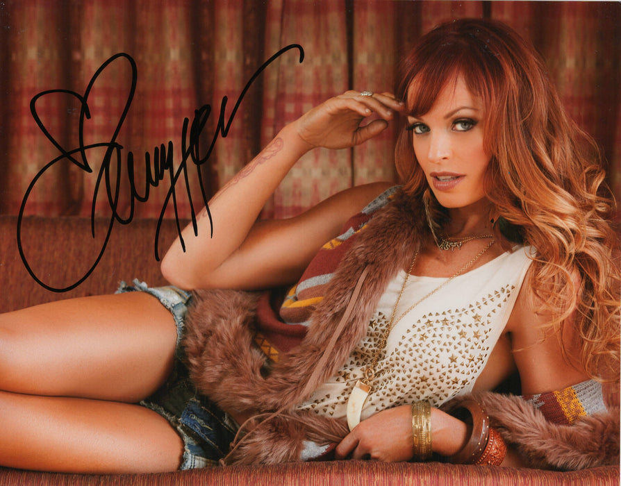 Christy Hemme Autograph 8x10 WWF Diva Search Photo Sexy COA 9