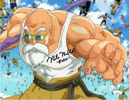 Mike McFarland Autograph 11x14 Photo Dragon Ball Z Master Roshi Signed JSA COA