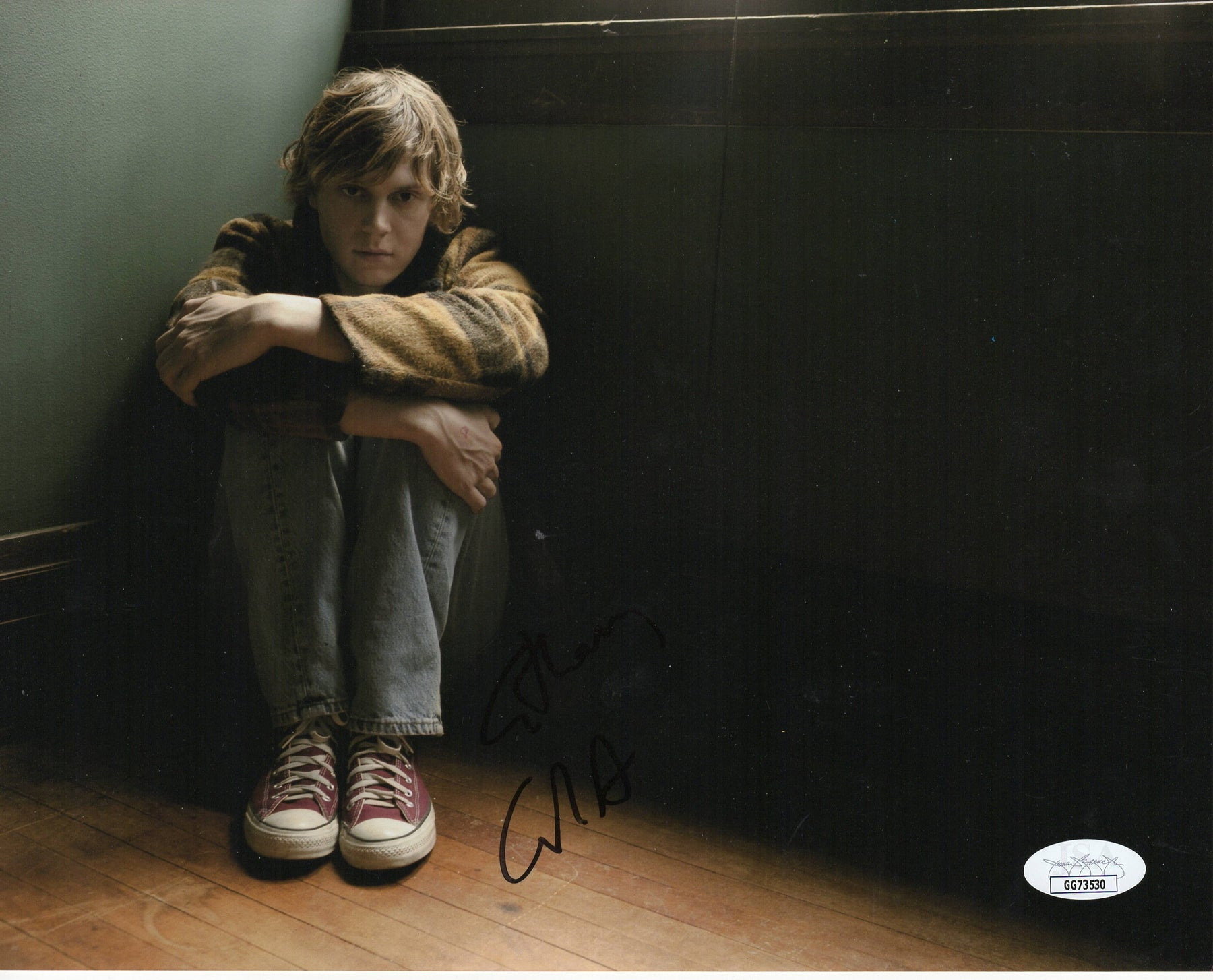 Evan Peters Autograph 8x10 Photo American Horror Story Signed JSA COA
