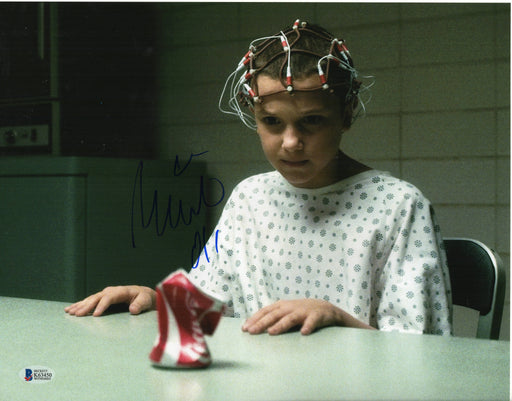 Millie Bobby Brown Autograph 11x14 Photo Stranger Things Eleven Signed BAS COA 2