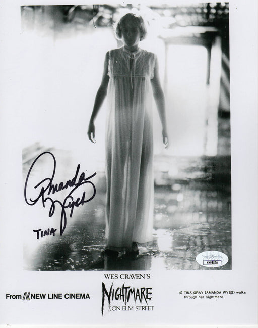 Amanda Wyss Autograph 8x10 Photo A Nightmare on Elm Street Horror JSA COA