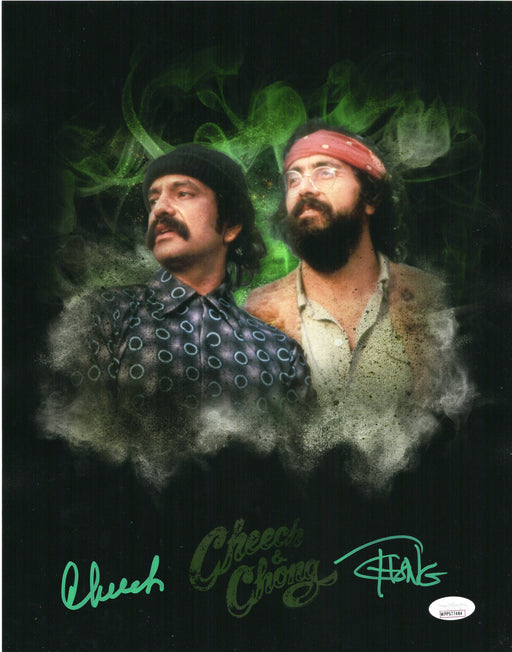Cheech and Chong Autograph 11x14 Photo Up in Smoke Signed JSA COA 6