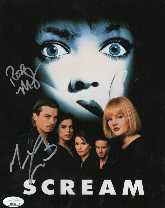 Matthew Lillard & Rose McGowan Autograph 8x10 Photo Scream Signed JSA COA