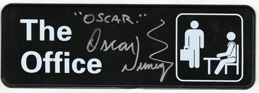 "Oscar Nuñez Autograph The Office Wall Plaque 9""x3"" Signed JSA COA"