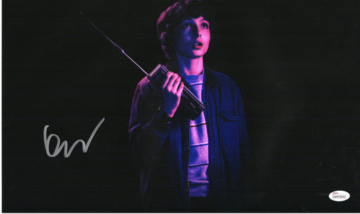 Finn Wolfhard Autograph 11x17 Photo Mike Stranger Things Signed JSA COA FW
