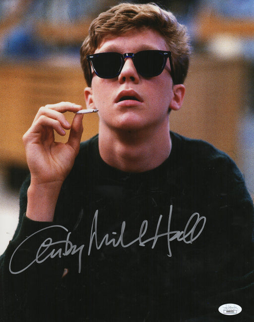 Anthony Michael Hall Autograph 11x14 Photo The Breakfast Club Signed JSA COA