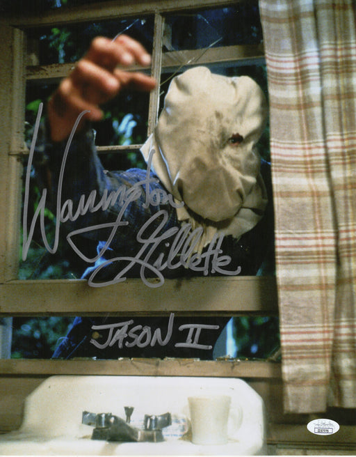 Warrington Gillette Autograph 11x14 Photo Friday the 13th Signed JSA COA