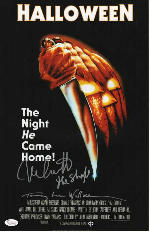 Nick Castle & Tommy Lee Wallace Autograph Halloween 11x17 Photo Signed JSA COA