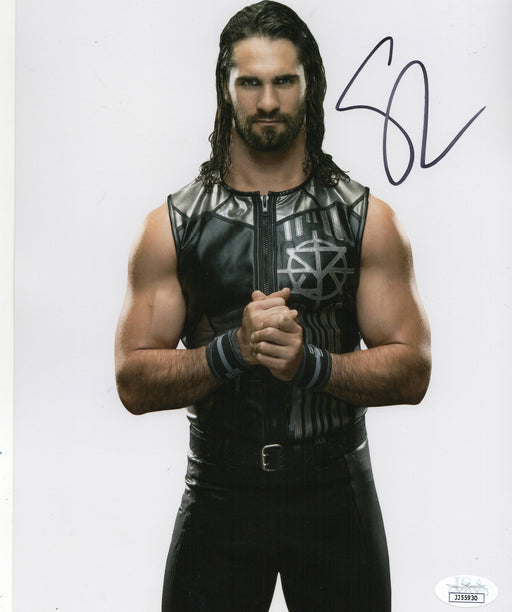 Seth Rollins Autograph 8x10 Photo WWE Champion Signed JSA COA 3