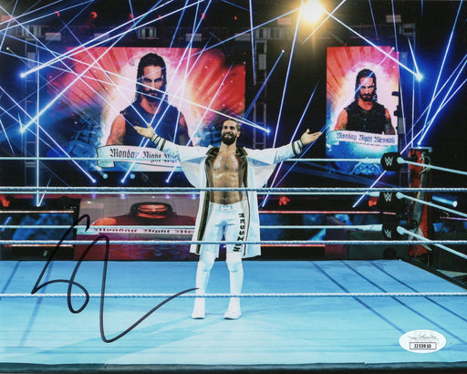 Seth Rollins Autograph 8x10 Photo WWE Champion Signed JSA COA 4