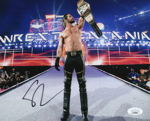 Seth Rollins Autograph 8x10 Photo WWE Champion Signed JSA COA 5