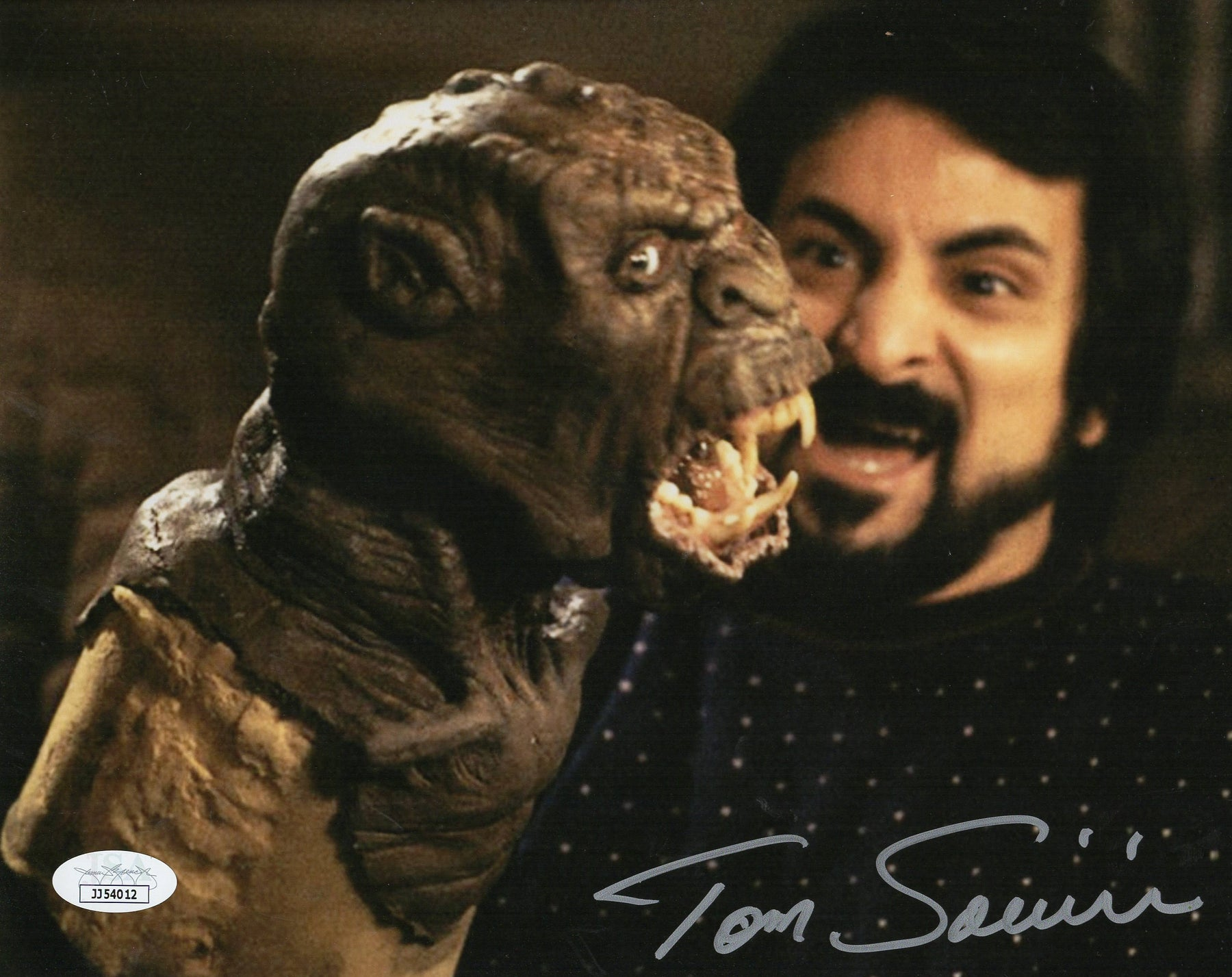 Tom Savini Autograph 8x10 Photo Friday the 13th The Last Chapter Signed JSA COA 2