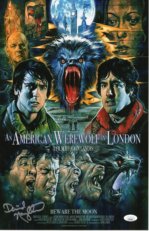 David Naughton Autograph 11x17 An American Werewolf in London Signed JSA COA