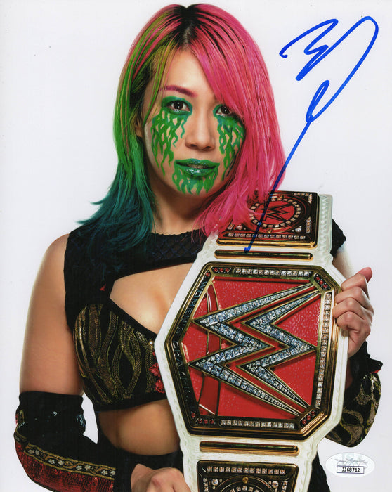 Asuka Autograph Signed 8x10 Photo Wrestler WWE JSA COA Z2