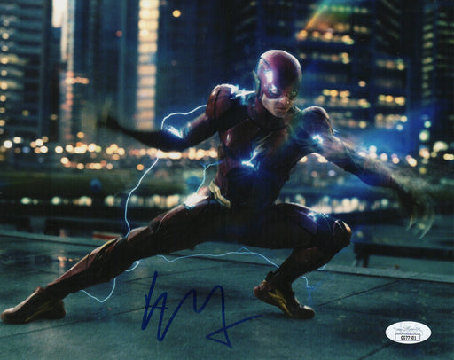 Ezra Miller Autograph 8x10 Photo Justice League Flash Signed JSA COA