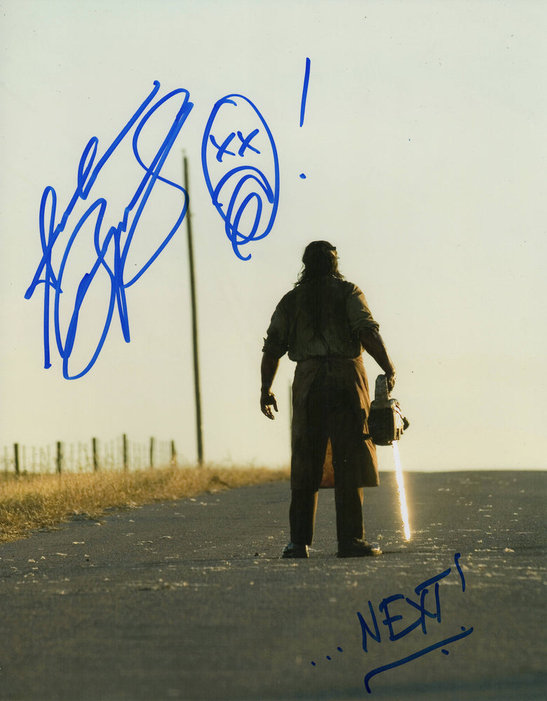 Andrew Bryniarski Signed 11x14 Photo Texas Chainsaw Massacre Leatherface COA Z2