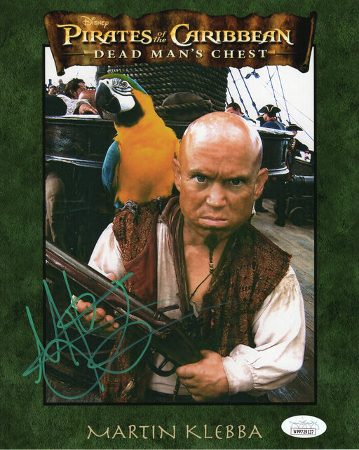 Martin Klebba Autograph 8x10 Photo Pirates of the Caribbean Marty Signed JSA COA 9
