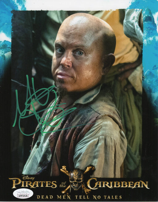 Martin Klebba Autograph 8x10 Photo Pirates of the Caribbean Marty Signed JSA COA 15