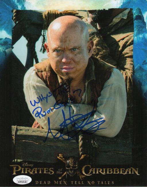 Martin Klebba Autograph 8x10 Photo Pirates of the Caribbean QUOTE Signed JSA COA