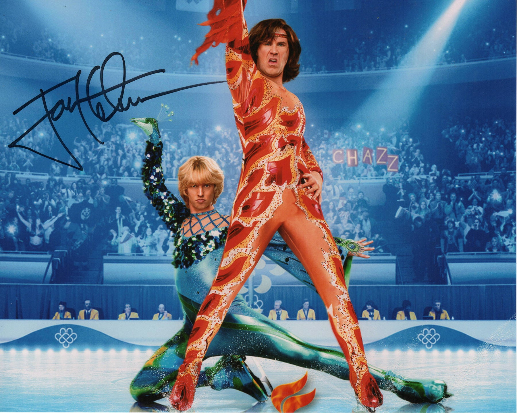 Jon Heder Autograph 8x10 Blades of Glory Photo Jimmy MacElroy Signed JSA COA 2