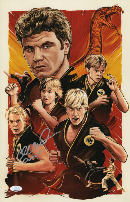 Chad McQueen Autograph 11x17 Photo Karate Kid Signed Dutch JSA COA 3
