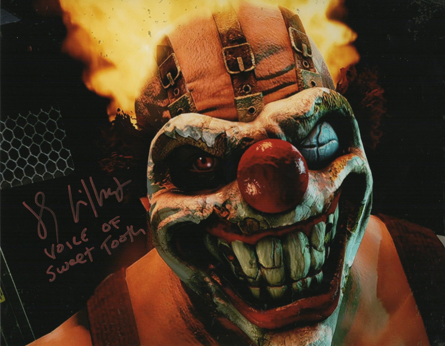 JS Gilbert Autograph 11x14 Photo Twisted Metal Sweet Tooth Picture COA Z3
