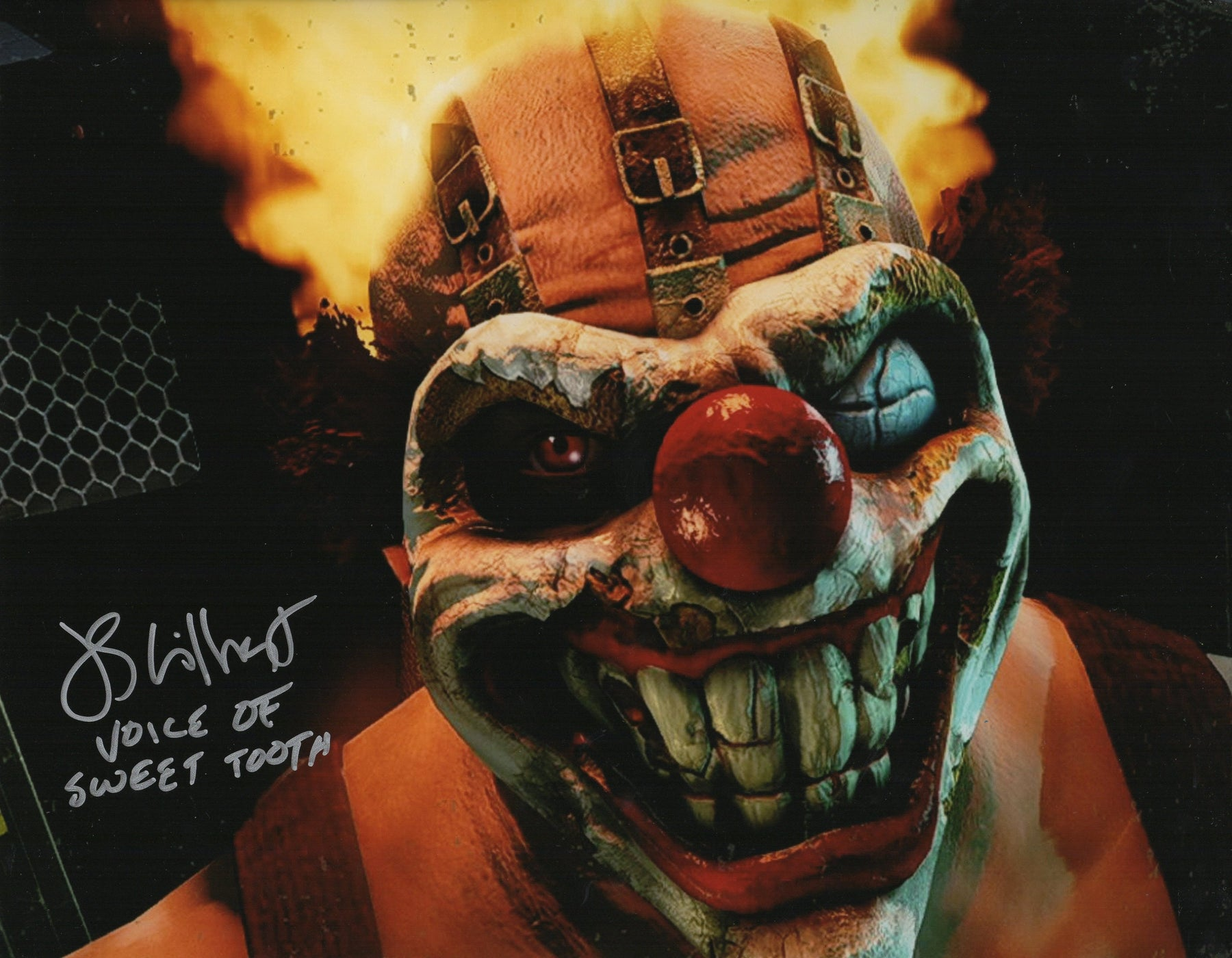 JS Gilbert Autograph 11x14 Photo Twisted Metal Sweet Tooth Picture COA Z1