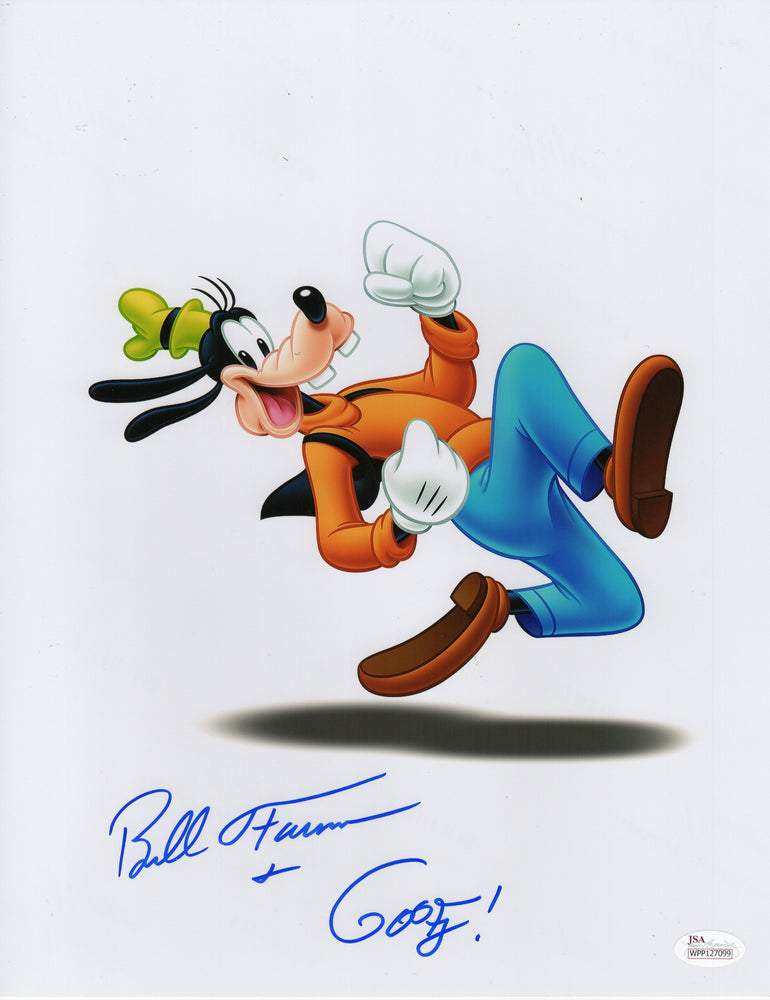 Bill Farmer Autograph 11x14 Photo Disney Goofy Signed JSA COA