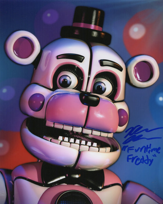 Kellen Goff Signed 8x10 Photo Five Nights at Funtime Freddy's COA H1