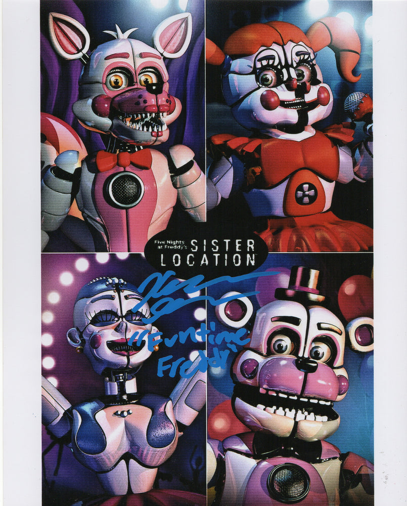 Kellen Goff Signed 8x10 Photo Five Nights at Funtime Freddy's COA H2