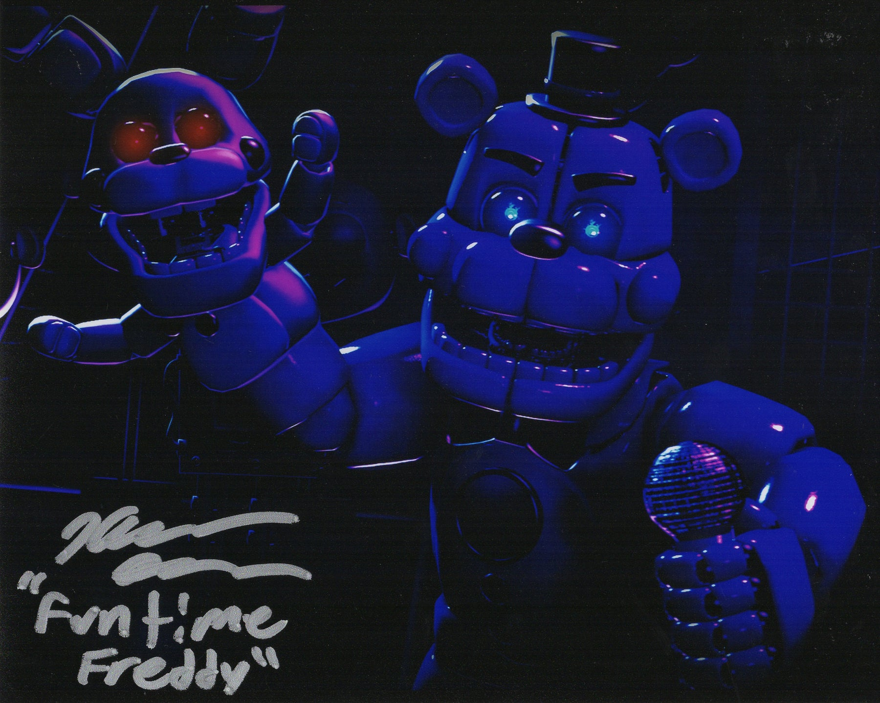 Kellen Goff Signed 8x10 Photo Five Nights at Funtime Freddy's COA H5