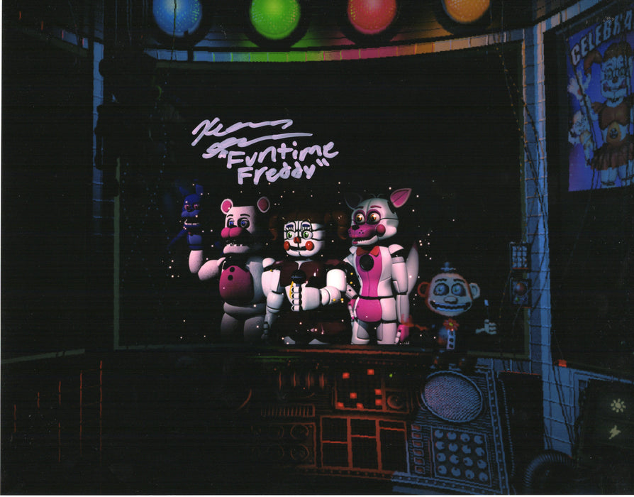 Kellen Goff Signed 11x14 Photo Five Nights at Funtime Freddy's COA H5