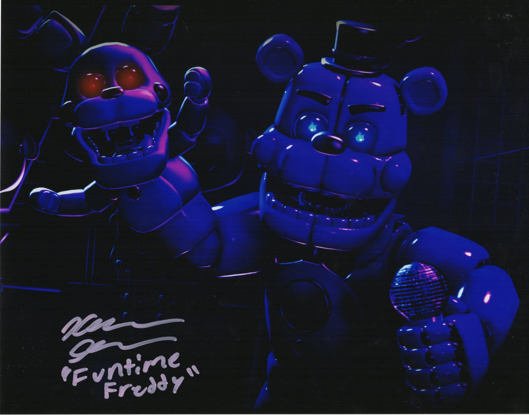 Kellen Goff Signed 11x14 Photo Five Nights at Funtime Freddy's COA H7