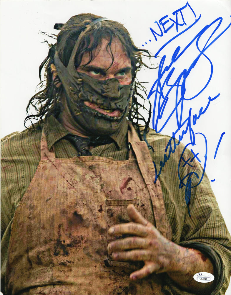 Andrew Bryniarski Signed 11x14 Photo Autograph Leatherface JSA COA V2
