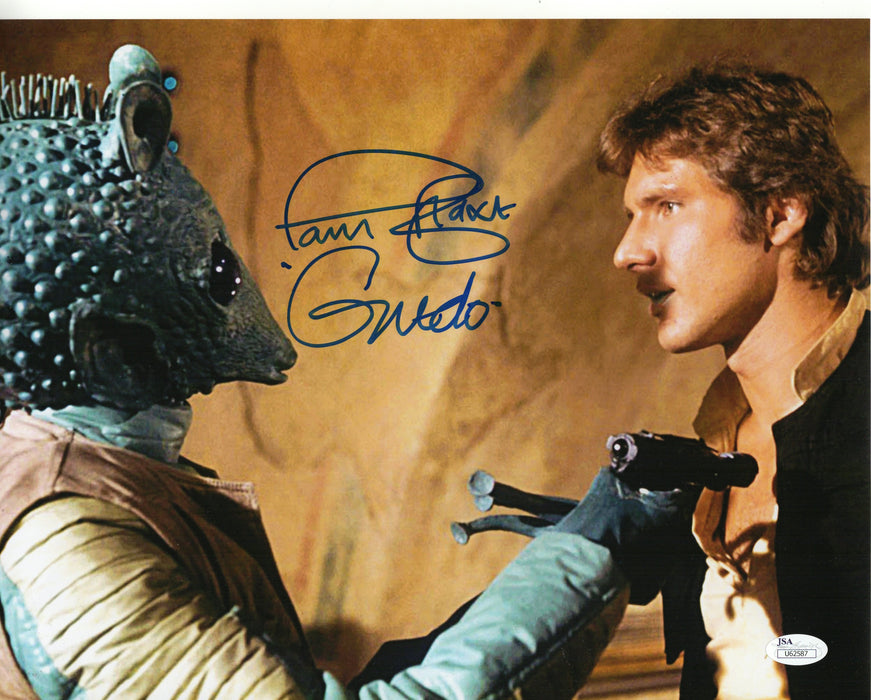 Paul Blake Autograph 11x14 Photo Star Wars Greedo Signed JSA COA