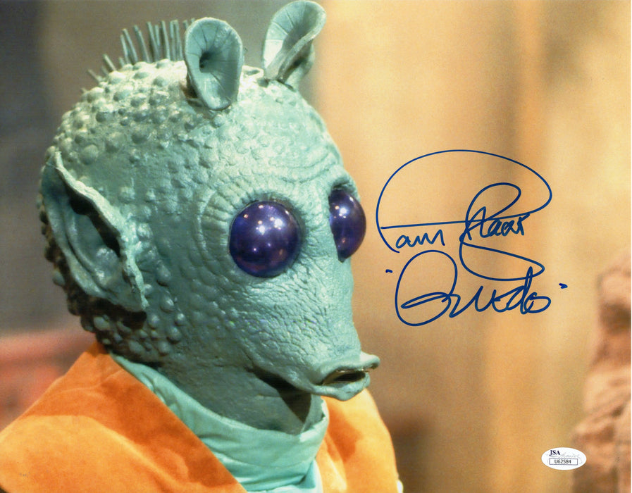Paul Blake Autograph 11x14 Photo Star Wars Greedo Signed JSA COA 2
