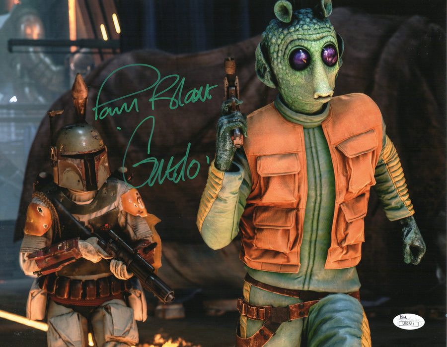 Paul Blake Autograph 11x14 Photo Star Wars Greedo Signed JSA COA 4