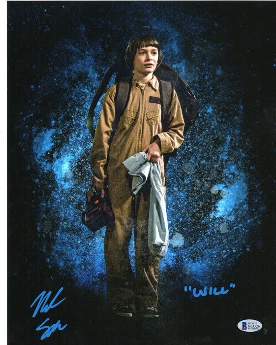 Noah Schnapp Signed 11x14 Photo Autograph WILL Stranger Things BAS COA